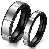 TITANIUM RING Cincin Couple Size 7(F) & 7(M) [GS266] - White & White - Cincin